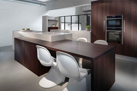 مدل آشپزخانه سفید, دکوراسیون آشپزخانه با طرح چوب