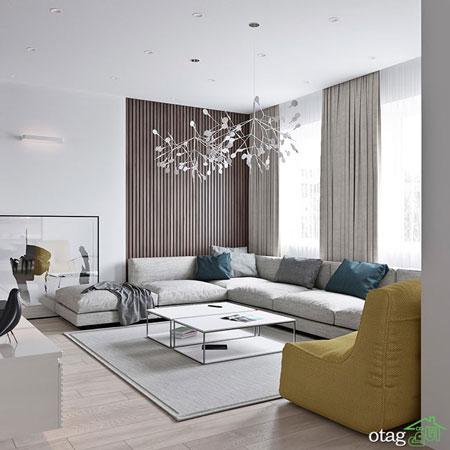 دکوراسیون خانه با رنگ روشن و شاد به روشی بسیار ساده و شیک